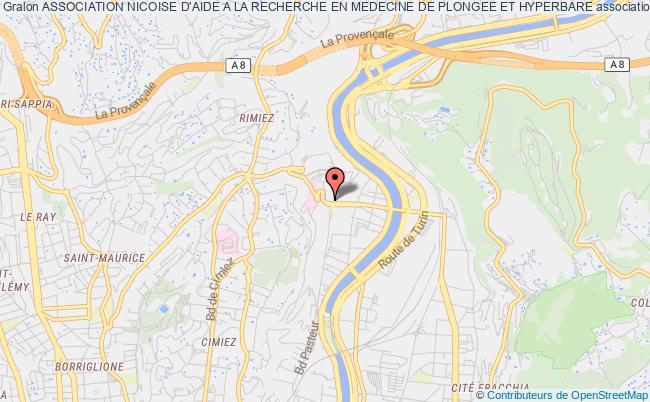 plan association Association Nicoise D'aide A La Recherche En Medecine De Plongee Et Hyperbare
