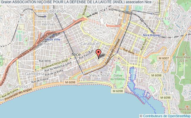 plan association Association NiÇoise Pour La DÉfense De La LaÏcitÉ (andl)