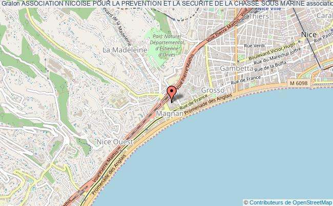 plan association Association Nicoise Pour La Prevention Et La Securite De La Chasse Sous Marine