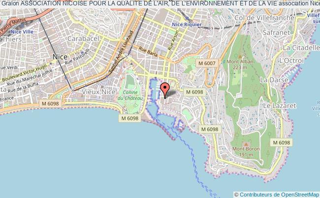 plan association Association Nicoise Pour La Qualite De L'air, De L'environnement Et De La Vie Nice