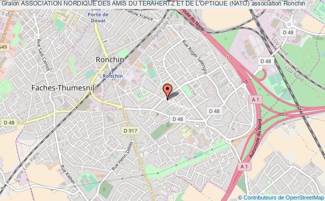 plan association Association Nordique Des Amis Du Terahertz Et De L'optique (nato) Ronchin