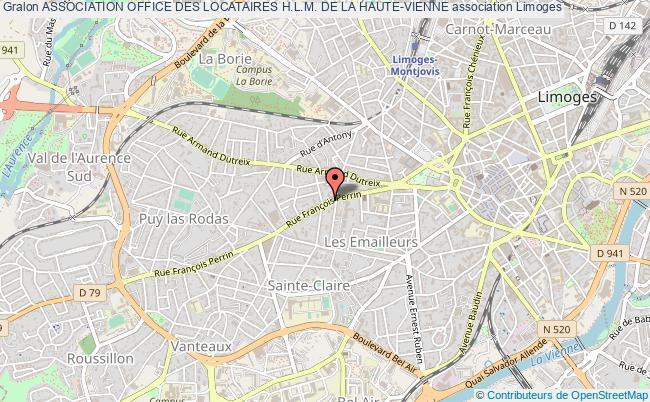 plan association Association Office Des Locataires H.l.m. De La Haute-vienne
