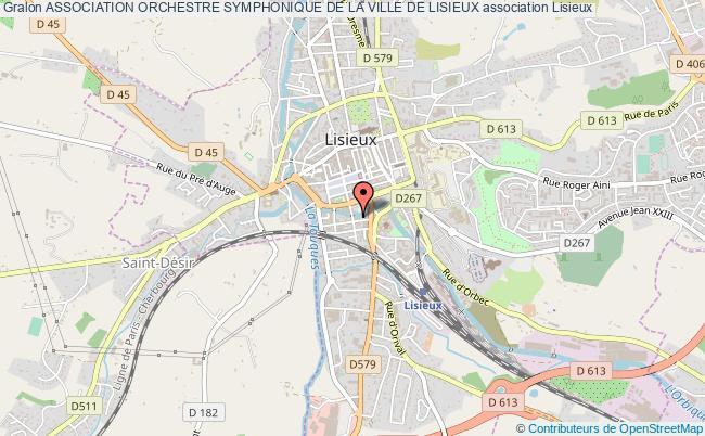 plan association Association Orchestre Symphonique De La Ville De Lisieux