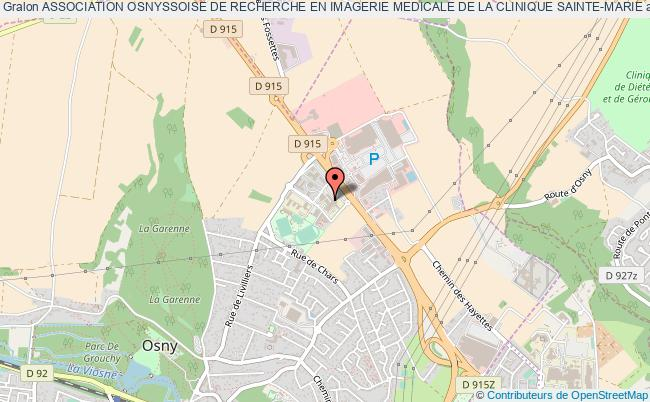 plan association Association Osnyssoise De Recherche En Imagerie Medicale De La Clinique Sainte-marie Osny