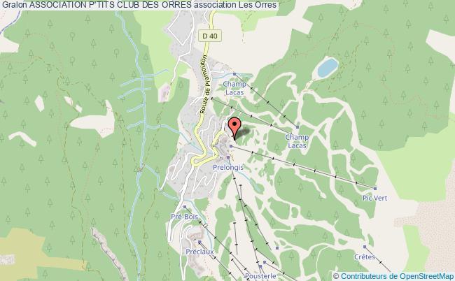 plan association Association P'tits Club Des Orres Orres
