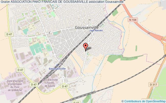 plan association Association Pako Francais De Goussainville Goussainville