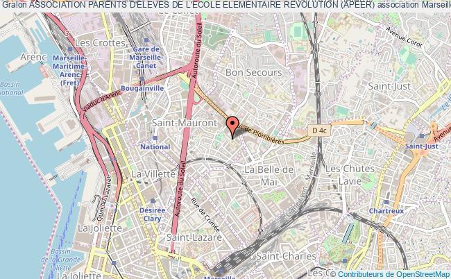plan association Association Parents D'eleves De L'ecole Elementaire Revolution (apeer) Marseille