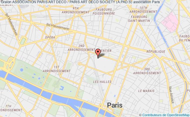 plan association Association Paris Art Deco / Paris Art Deco Society (a.pad.s)