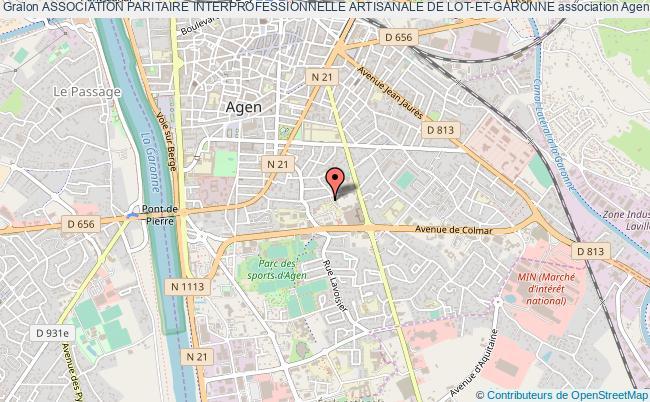 plan association Association Paritaire Interprofessionnelle Artisanale De Lot-et-garonne