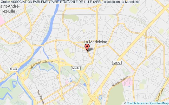 plan association Association Parlementaire Etudiante De Lille (apel)
