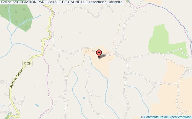 plan association Association Paroissiale De Cauneille Cauneille