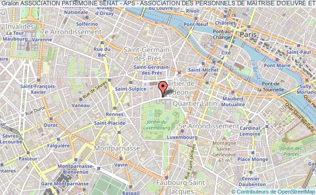 plan association Association Patrimoine Senat - Aps - Association Des Personnels De Maitrise D'oeuvre Et De Conservation Du Patrimoine Du Senat