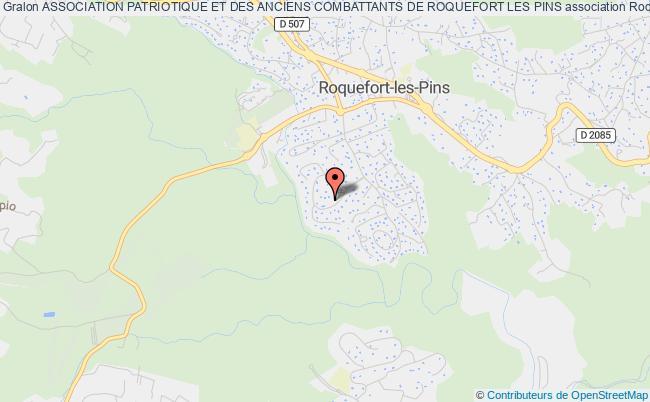 plan association Association Patriotique Et Des Anciens Combattants De Roquefort Les Pins