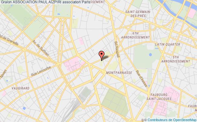 plan association Association Paul AÏzpiri Paris