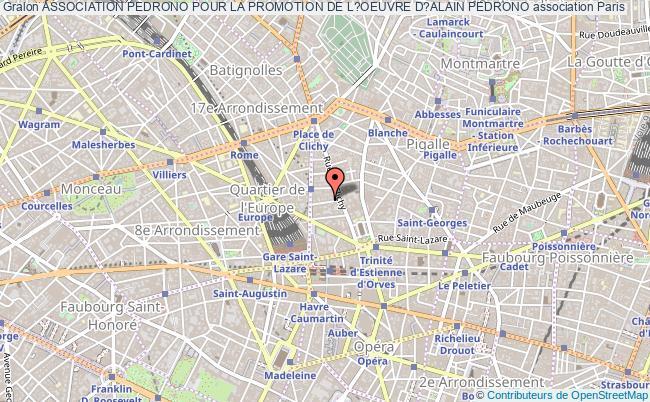 plan association Association Pedrono Pour La Promotion De L?oeuvre D?alain Pedrono