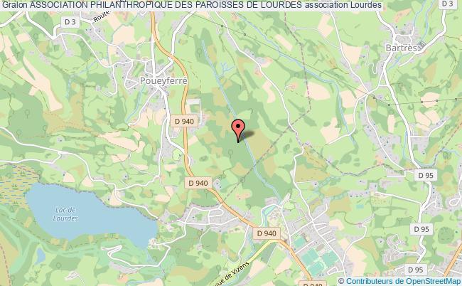 plan association Association Philanthropique Des Paroisses De Lourdes Lourdes