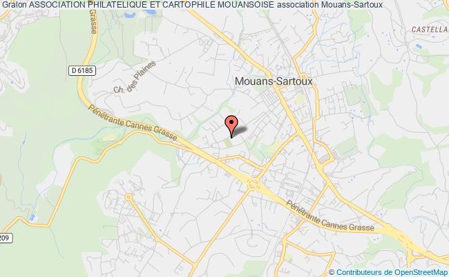 plan association Association Philatelique Et Cartophile Mouansoise Mouans-Sartoux