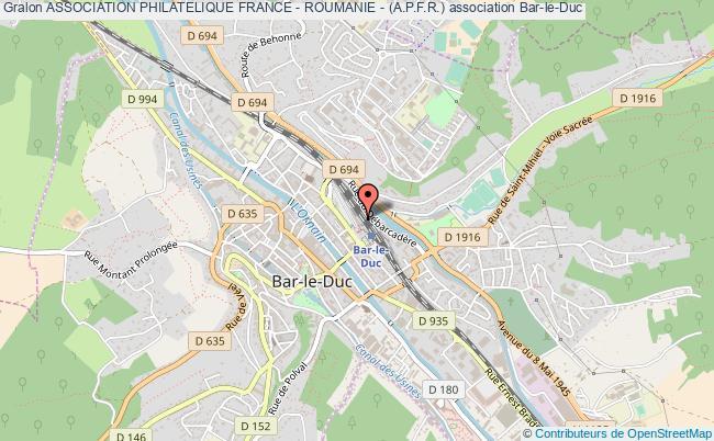 plan association Association Philatelique France - Roumanie - (a.p.f.r.)