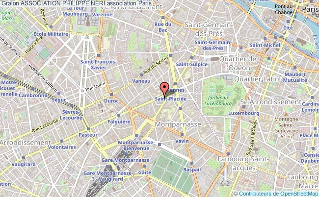 plan association Association Philippe Neri Paris