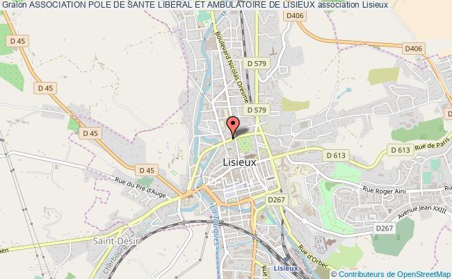 plan association Association Pole De Sante Liberal Et Ambulatoire De Lisieux