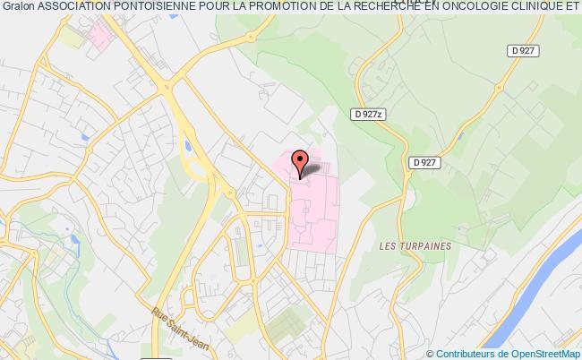 plan association Association Pontoisienne Pour La Promotion De La Recherche En Oncologie Clinique Et En Hematologie (a.p.p.r.o.c.h.e) Pontoise