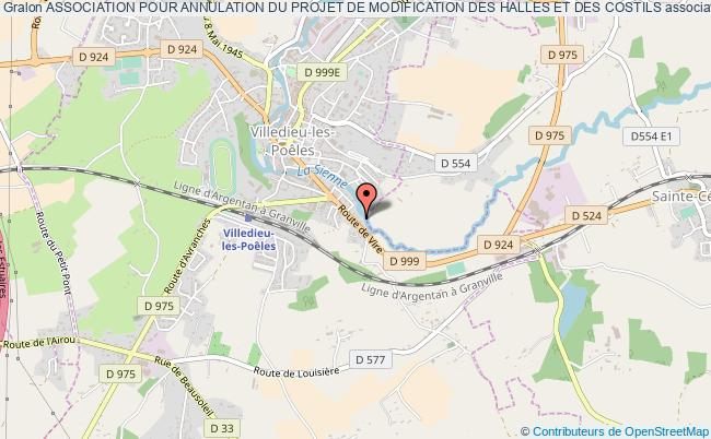 plan association Association Pour Annulation Du Projet De Modification Des Halles Et Des Costils Villedieu-les-Poêles