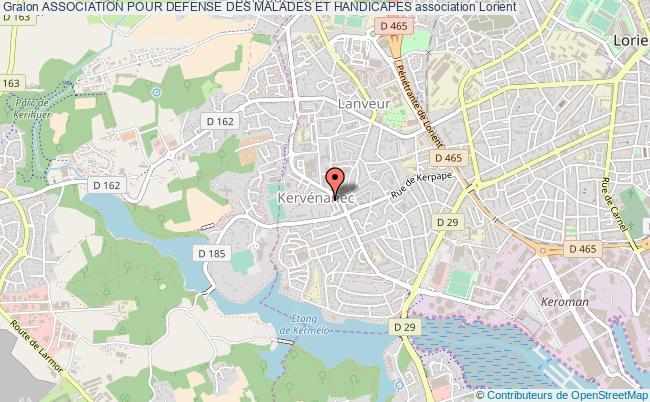 plan association Association Pour Defense Des Malades Et Handicapes Lorient