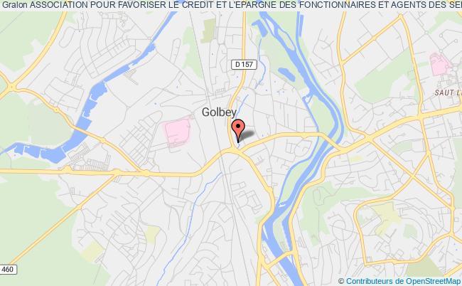 plan association Association Pour Favoriser Le Credit Et L'epargne Des Fonctionnaires Et Agents Des Services Publics  Des Vosges-acef