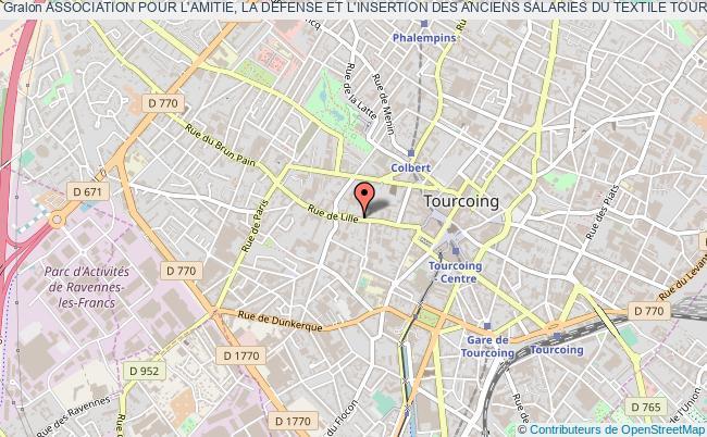 plan association Association Pour L'amitie, La Defense Et L'insertion Des Anciens Salaries Du Textile Tourquennois ( A . A .d .i . A .s - Textile) Tourcoing