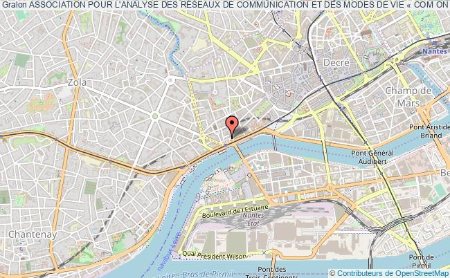 plan association Association Pour L'analyse Des RÉseaux De Communication Et Des Modes De Vie « Com On West - Lifestyle Network »