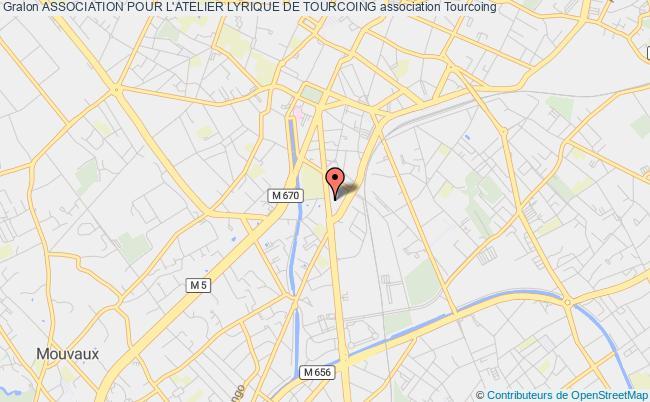 plan association Association Pour L'atelier Lyrique De Tourcoing