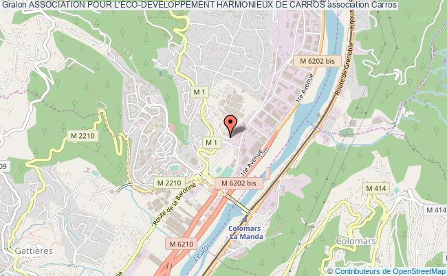 plan association Association Pour L'eco-developpement Harmonieux De Carros
