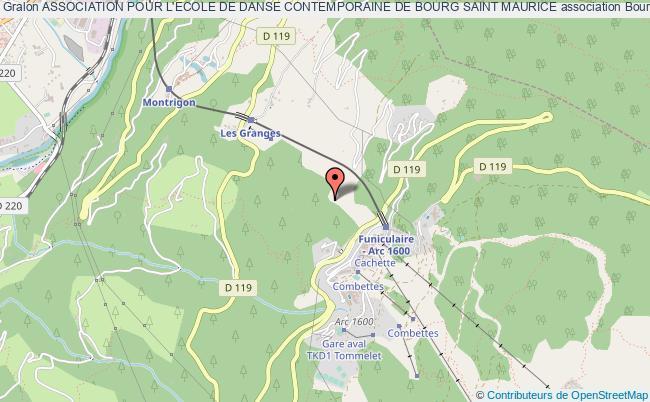 plan association Association Pour L'ecole De Danse Contemporaine De Bourg Saint Maurice