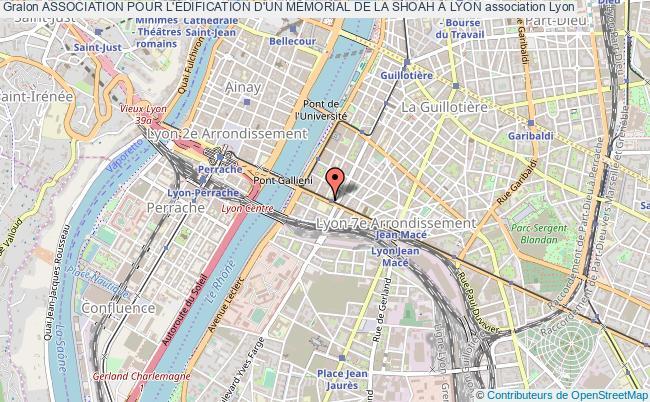 plan association Association Pour L'Édification D'un MÉmorial De La Shoah À Lyon