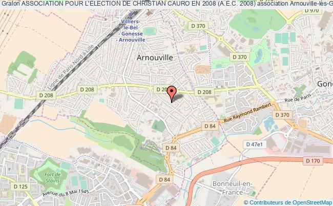 plan association Association Pour L'election De Christian Cauro En 2008 (a.e.c. 2008) Arnouville
