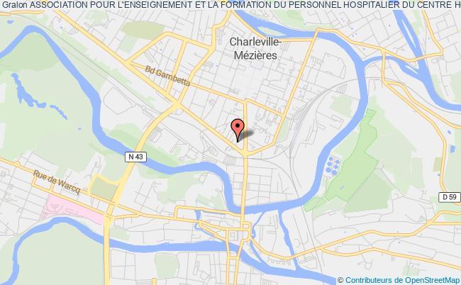 plan association Association Pour L'enseignement Et La Formation Du Personnel Hospitalier Du Centre Hospitalier General De Charleville-mezieres
