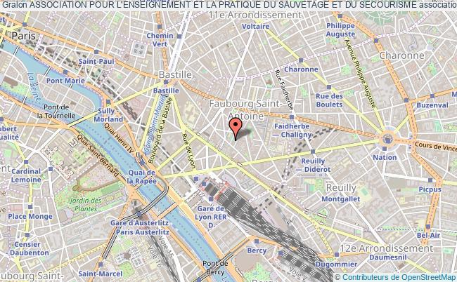 plan association Association Pour L'enseignement Et La Pratique Du Sauvetage Et Du Secourisme Paris
