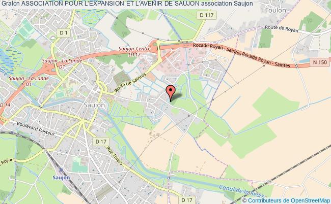 plan association Association Pour L'expansion Et L'avenir De Saujon Saujon