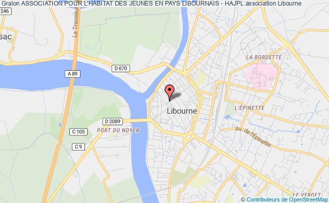 plan association Association Pour L'habitat Des Jeunes En Pays Libournais - Hajpl