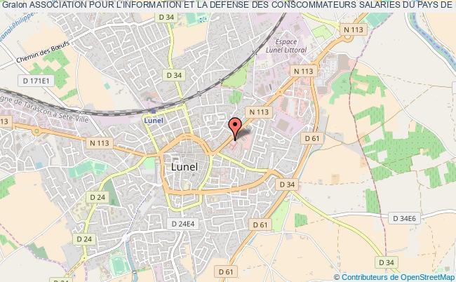 plan association Association Pour L'information Et La Defense Des Conscommateurs Salaries Du Pays De Lunel (indecosa-cgt Pays De Lunel)