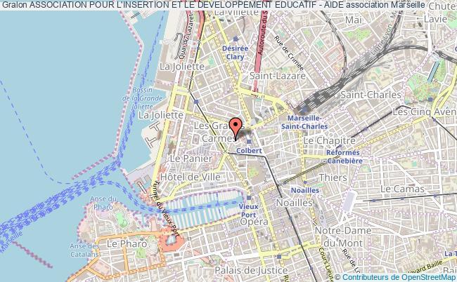 plan association Association Pour L'insertion Et Le Developpement Educatif - Aide Marseille