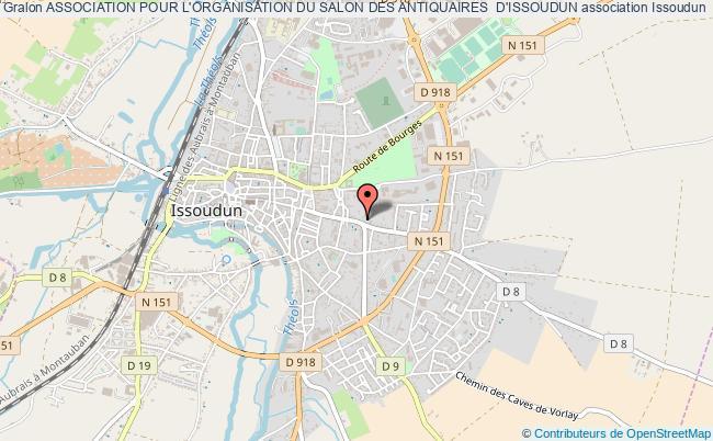 plan association Association Pour L'organisation Du Salon Des Antiquaires  D'issoudun Issoudun