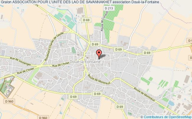 plan association Association Pour L'unitÉ Des Lao De Savannakhet Doué-en-Anjou