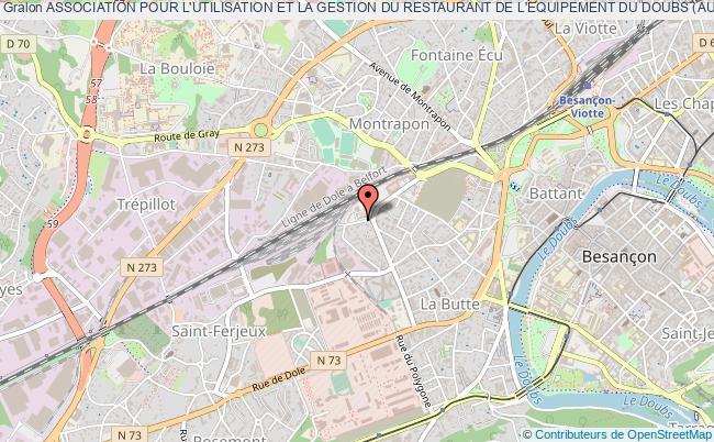 plan association Association Pour L'utilisation Et La Gestion Du Restaurant De L'equipement Du Doubs (augred)