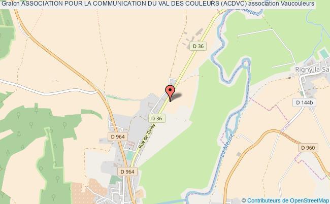 plan association Association Pour La Communication Du Val Des Couleurs (acdvc)