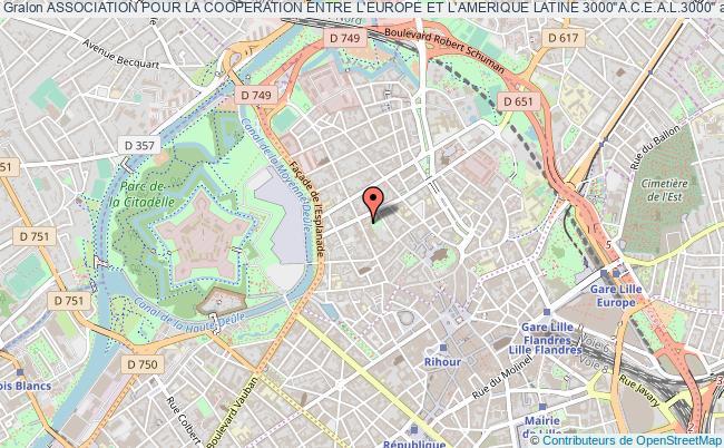 """plan association Association Pour La Cooperation Entre L'europe Et L'amerique Latine 3000""""a.c.e.a.l.3000"""""""