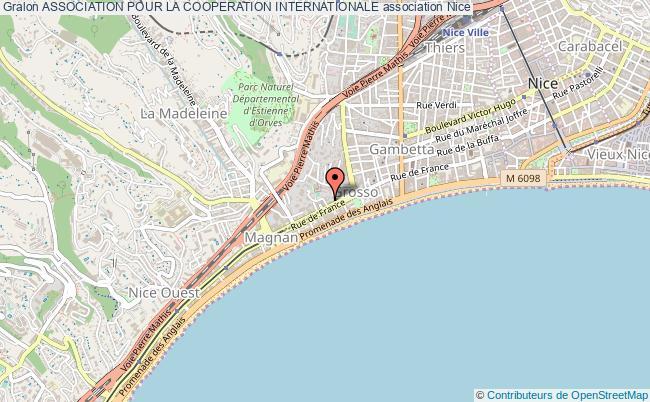 plan association Association Pour La Cooperation Internationale Nice