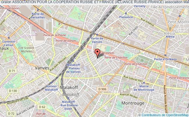 plan association Association Pour La Cooperation Russie Et France (alliance Russie-france) Malakoff