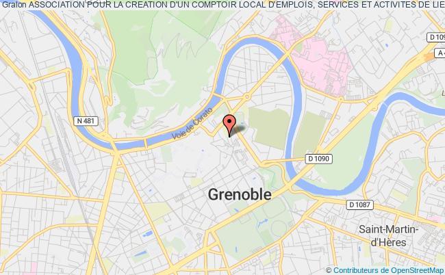 plan association Association Pour La Creation D'un Comptoir Local D'emplois, Services Et Activites De Lien Social Grenoble