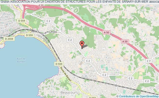 plan association Association Pour La Creation De Structures Pour Les Enfants De Sanary-sur-mer